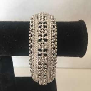 Silver Clamp Bracelet by Monet